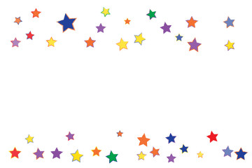 Grunge Confetti Stars