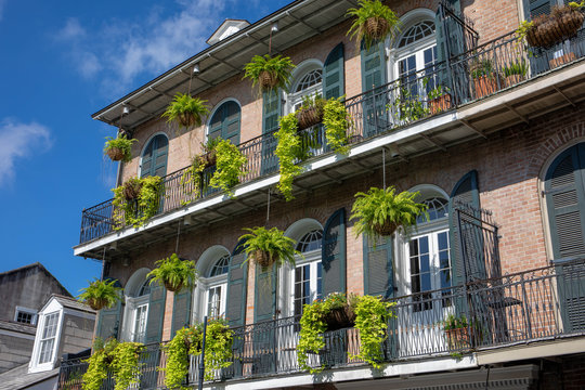 Beautiful building in the French Quarter of New Orleans, Louisiana