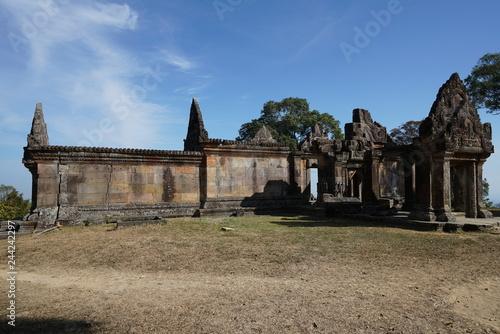 Preah Vihear,Cambodia-January 10, 2019: Third Gopura of Preah Vihear