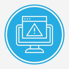 Error vector icon sign symbol