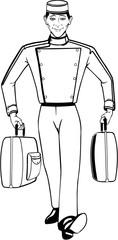 Bellhop Vector Illustration