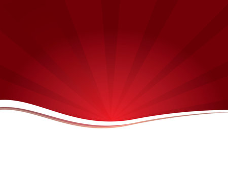Background-White with a Bright Red Sunburst
