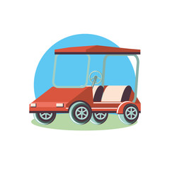 golf car isolated icon