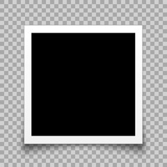 Empty black photo frame - stock vector