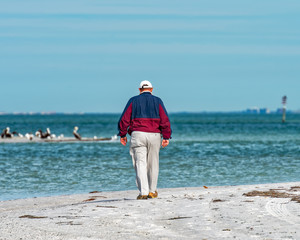 Person walking the beach