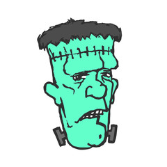 Frankenstein. Monster head.