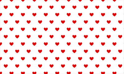 Small red hearts on white background seamless pattern for Valentine's Day