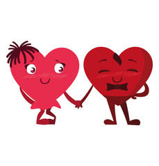 hearts couple emoticons characters