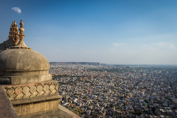 Nahargarh Fort (Public place) on the top of mountain in Jaipur, Rajasthan, India