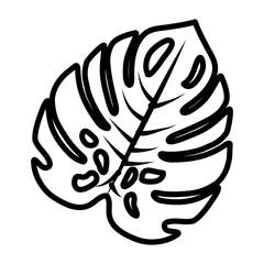 tropical leaf ecology icon