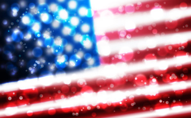 Flag of USA background for independence, veterans, memorial, martin luther king, presidents day and other events
