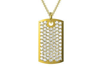 pendant isolated on white , 3D rendering