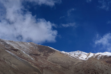 Mountain In leh Ladakh with sunlight