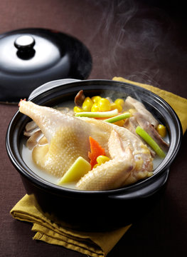 Delicious Chinese food, chicken soup