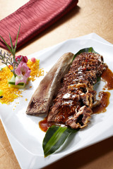 Delicious Chinese cuisine, barbecue chops