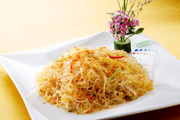 Delicious Chinese cuisine, fried rice noodles
