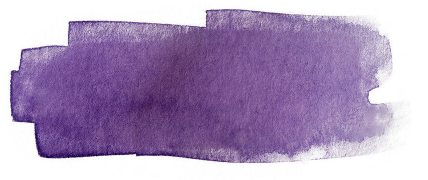 solid water color painting bluish violet watercolor stain. color 2685C color texture on white paper.