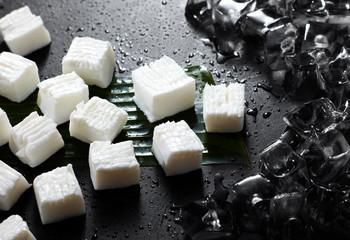 Fresh ingredients, tofu block
