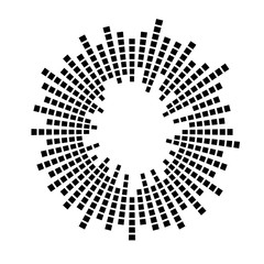 Abstract sound audio waves, equalizer wave circle. Vector logo