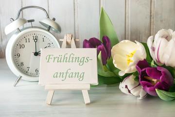 Vintage Dekoration zum Frühlingsanfang