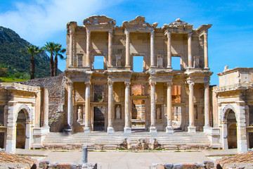 Recess Fitting Ruins Ephesus Ancient City