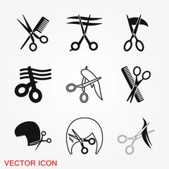 Barber icon vector logo, illustration, vector sign symbol for design