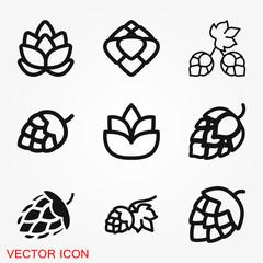 Hop icon logo, illustration, vector sign symbol for design