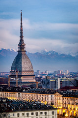 Turin high definition view of the Mole Antonelliana