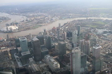 aerial view of london city from above