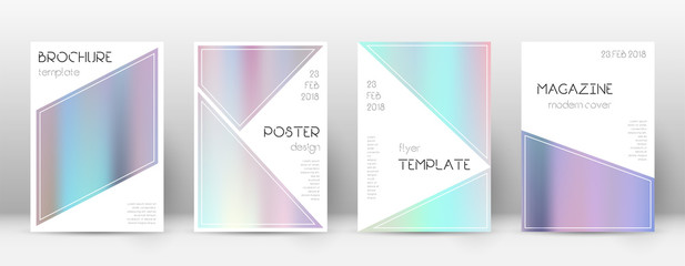 Flyer layout. Triangle bewitching template for Bro