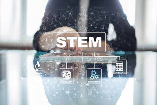 STEM. Science Technology Engineering Math. Sci-Tech. Tech. Business concept.