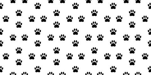 dog paw seamless pattern vector french bulldog tile background scarf isolated wallpaper