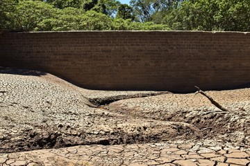 Drought concept image consisting of a dry dam in South Africa.