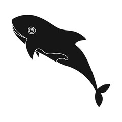 Vector illustration of sea and animal icon. Collection of sea and marine stock vector illustration.