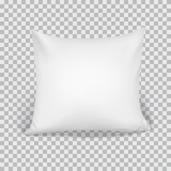 White Pillow. Elements Of Bedroom, Home, Hotel Decor.