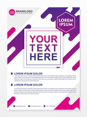Modern brochure template design with white and purple color