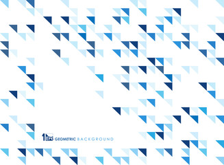 Simple blue geometric of pattern background of technology.