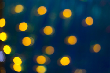 yellow and black. Bokeh abstract light background