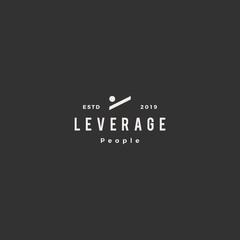 leverage people human logo hipster retro vintage vector icon