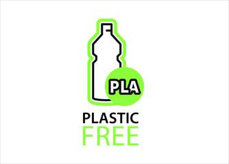 Fototapeta Plastic free packaging PLA obraz