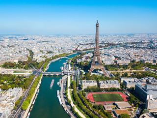Poster de jardin Paris Eiffel Tower aerial view, Paris