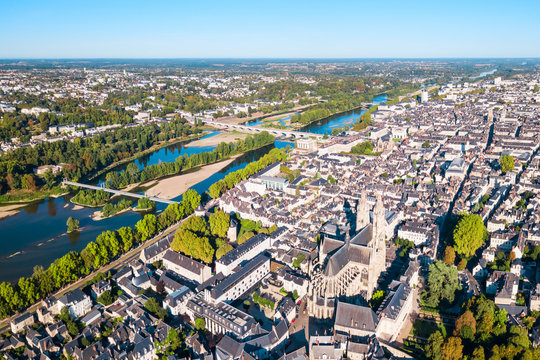 Tours aerial panoramic view, France