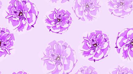 Vintage Rose Seamless Pattern.