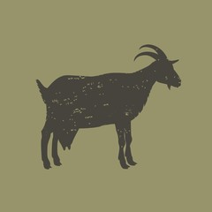 Силуэт козы