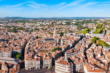 Montpellier aerial panoramic view, France