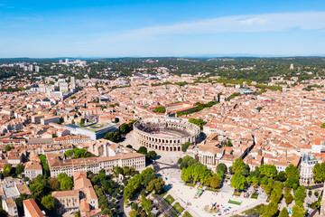 Nimes Arena aerial view, France - fototapety na wymiar