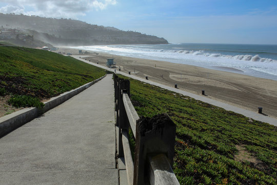 Ramp Leading Down to Torrance Beach, South Bay of Los Angeles County, California
