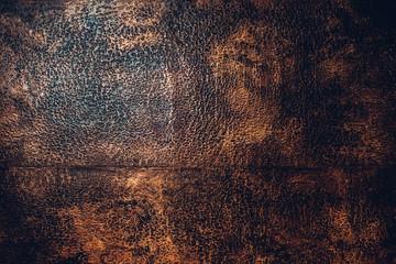 Fotobehang Leder Chasing copper texture