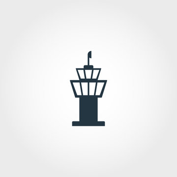 Airport Tower creative icon. Simple element illustration. Airport Tower concept symbol design from airport collection. Perfect for web design, apps, software, print.