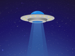Ufo flying spaceship Flying saucer Vector Icon